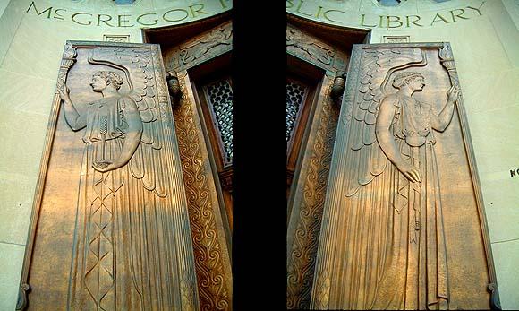 Before - Magnificant craftmanship - front doors to Highland Parku0027s McGregor Library & mcgregor_library_doors.jpg